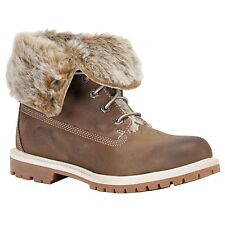 Timberland 3758R Fold Down Taupe Winter Boots Womens Sizes Faux Fur Leather