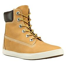 """Timberland Womens Brown Leather Boots Deering Wheat Shoes 6"""" Inch 8751R"""