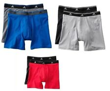 Adidas 2PK Sport Performance Moisture Wicking Mens Boxer Briefs SM-MED-LG-XL