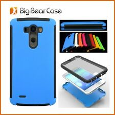 Super light Rugged 2-pc Premium Hybrid Protective Case / Cover for LG Optimus G3