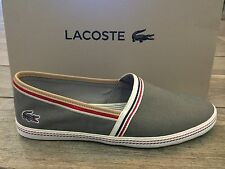LACOSTE Mens Shoes Moccasin Low Trainers Sneakers AIMARD 2 AP GRY - New In Box