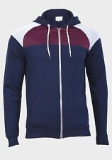 RIVER ISLAND Mens Navy Blue Zip Up Hoodie Hoody Hooded Jacket Sizes XS-XXL