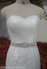 Many Color selection Wedding Dress Crystal Beaded Jeweled Rhinestone Belt Sash