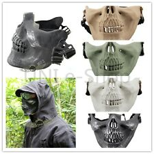 Outdoor Death Skull Bone Airsoft Hunting War Game Protect Safe Half Face Mask