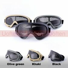 Adjustable Metal mesh Tactical Airsoft Eyes Protection Pinhole Goggle Glasses