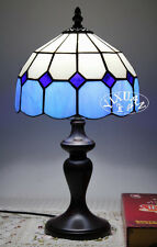 Mediterranean Simple Tiffany Style Desk Table Lamp Stained Glass 3 Colors