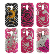 Bling Diamond Gem Snap On Case Cover for Moto G XT1031 XT1032