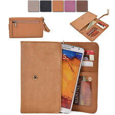 [XL4] Womans Genuine Leather Slim Smart-Phone Wallet Case Card Organizer Purse