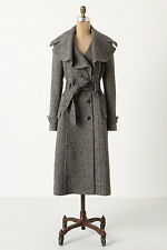 NWT Anthropologie Cartonnier Enduring Tweed Trench Coat Overcoat Size 2 12