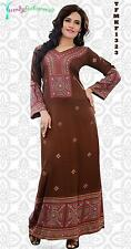 Trendy Kaftan Soft Printed Abaya, Maxi Dress Plus Sizes Small to 6XL -TFMKF1323