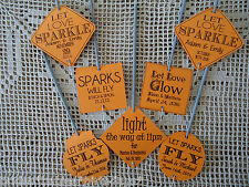 Kraft Orange Wedding Favour Gift Tags Sparklers Bomboniere PERSONALISED Vintage
