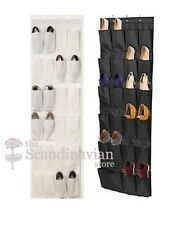 IKEA Over the Door Shoe Organizer Rack Storage 24 Slots  -Black or White - NEW