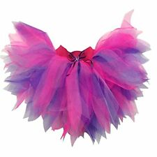 NEON TUTU PINK PURPLE PRINCESS FUNKY PLUS SIZE 80S FANCY DRESS 1980'S COSTUME