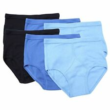 12 PAIRS MENS Y-FRONTS BRIEFS UNDERWEAR PANTS 100% COTTON IN WHITE OR BLUES