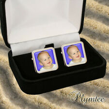 PERSONALISED MENS GIFT CUFFLINKS - YOUR OWN IMAGE