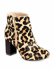 LORD & TAYLOR Womens EXELDA Leopard Print Calf Hair Boots Size 37.5-38.5
