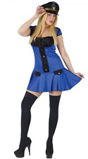 Womens Ladies Sexy Police Officer Navy NYPD Look Fancy Dress Costume Hat