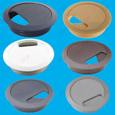 10x 80mm Computer Desk Table Grommet Cable Tidy Surface Port Wire Hole Cover Ten