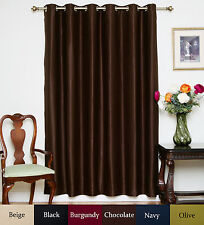 Wide Width Nickel Grommet Top Blackout Curtain 80 Inch by 84 Inch Panel