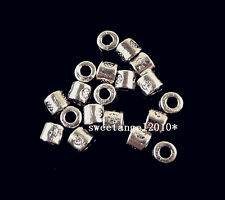 Lots 100/300/1000 Tibetan silver charm Square spacer beads Jewelry making 4x3mm
