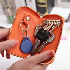 11 Color Mixed Cowhide Genuine Leather Men's Women's Car Door key chain Case Bag
