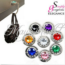 New 10 Colors Crystal Folding Purse Handbag Bag Hook Hanger Hold Holders Hot MM