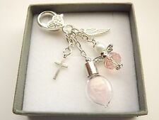 PERSONALISED IN LOVING MEMORY DAUGHTER FEATHER FROM AN ANGEL KEYRING. GIFTBOX