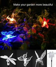 2 Set Outdoor ColorChanging LED Solar garden light Path Lights Decor Yard Lamp
