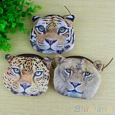 Cute Stylish Animal Face Zipper Case Coin Purse Wallet Makeup Buggy Bag Pouch