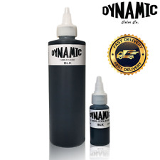 1oz or 8oz DYNAMIC BLACK Tattoo Ink - Original bottle for lining and shading