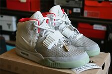 DS NIKE AIR YEEZY 2 PURE PLATINUM EXT SAMPLE SZ 6  WOLF GREY 508214010SOLAR RED