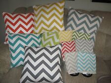 New 18x18 Chevron Zig Zag Design Throw Pillow Covers 12 Different To Choose From