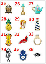 24 styles hot 2014 new Floating Charm for Glass Living Memory Locket