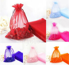 14Colors 100Pcs Sheer Organza Wedding Party Favor Gift Candy Jewelry Bag Pouch