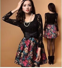 8050 # 2013 new spring and summer painting a sense of woolen lace dress fight