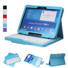 """Bluetooth Wireless Keyboard Leather Case Cover for Samsung Galaxy Tab 4 10.1"""""""