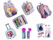 Disney Store FROZEN Elsa & Anna BACKPACK Rolling Luggage LUNCH BOX School Kit+