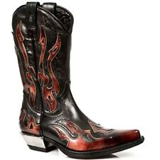 New Rock Boots Mens Style 7921 S2 Red & Black