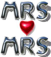 Giant 40'' MRS & MRS Gay Wedding Foil Balloon Letters and Lesbian Wedding + LGBT