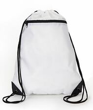 UltraClub Drawstring Bag 8888 Men's Zippered Drawstring Backpack