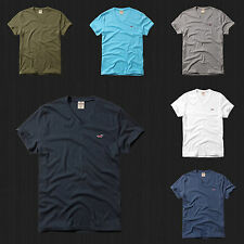 New HOLLISTER By Abercrombi​e Men Jack Creek Seascape V Neck T Shirt All Size