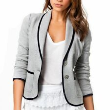 Hot Fashion Women Office Long Sleeve Two Button Suit Jacket Blazer Top Plus Size