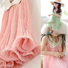 Hot Trendy Kid Clothes Girl Chiffon Sleeveless TuTu Dress Short Prom Pink Skirts