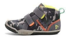 Go Plae Max Boys Kids Youth Teen Velcro High Top Sneakers Leather Mesh