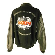 NFL ST LOUIS RAMS WOOL/LEATHER BOMBER JACKET L8423