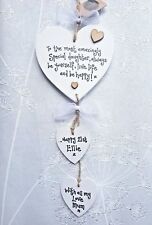 PERSONALISED Daughter Birthday Present Gift 16 18th 21st 30 40th heart Plaque