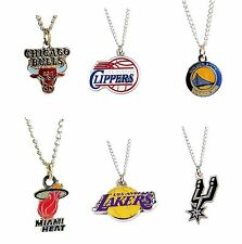 NBA Necklace Team Logo Charm Pick Your Team