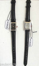 Ladies Faux Leather Watch by Geneva with Easy Read Dial ( Cheap - Low Price )