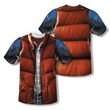 BACK TO THE FUTURE McFLY VEST COSTUME (FRONT & BACK) T SHIRT S M LG XL 2XL 3XL