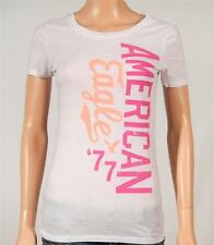 American Eagle Outfitters AE Signature Graphic Tee Womens White T-Shirt New NWT